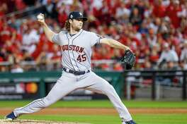 Gerrit Cole, pitching in Game 5 of the World Series, was extended a qualifying offer by the Astros. The move is considered procedural.