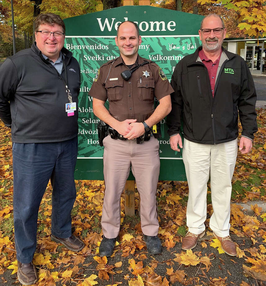 Joseph McCarthy, Director of Campus Safety at Interlochen Center for the Arts, Mark Noffke, Green Lake Township Community Police Officer, and Marvin Radtke, Jr. Green Lake Township Supervisor (left to right) Photo: (Courtesy Photo)