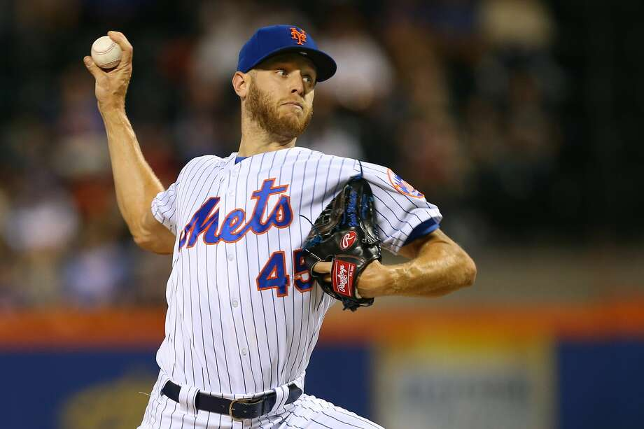 NEW YORK, NY - SEPTEMBER 15: Zack Wheeler #45 of the New York Mets in action against the Los Angeles Dodgers during of a game at Citi Field on September 15, 2019 in New York City. (Photo by Rich Schultz/Getty Images) Photo: Rich Schultz/Getty Images
