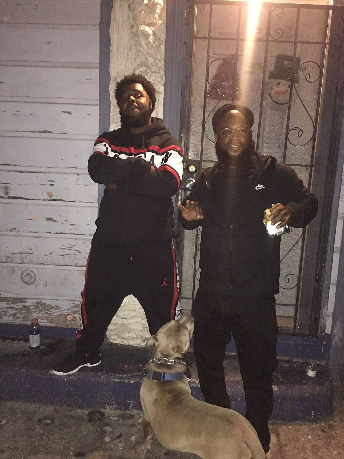 Raymon Hill Jr. on left and Raymon Hill Sr. On right in photo taken Oct. 30, 2019, at senior�s birthday, and the day before junior would be shot to death while attending a Halloween party at an AirBnb short term rental home in Orinda.