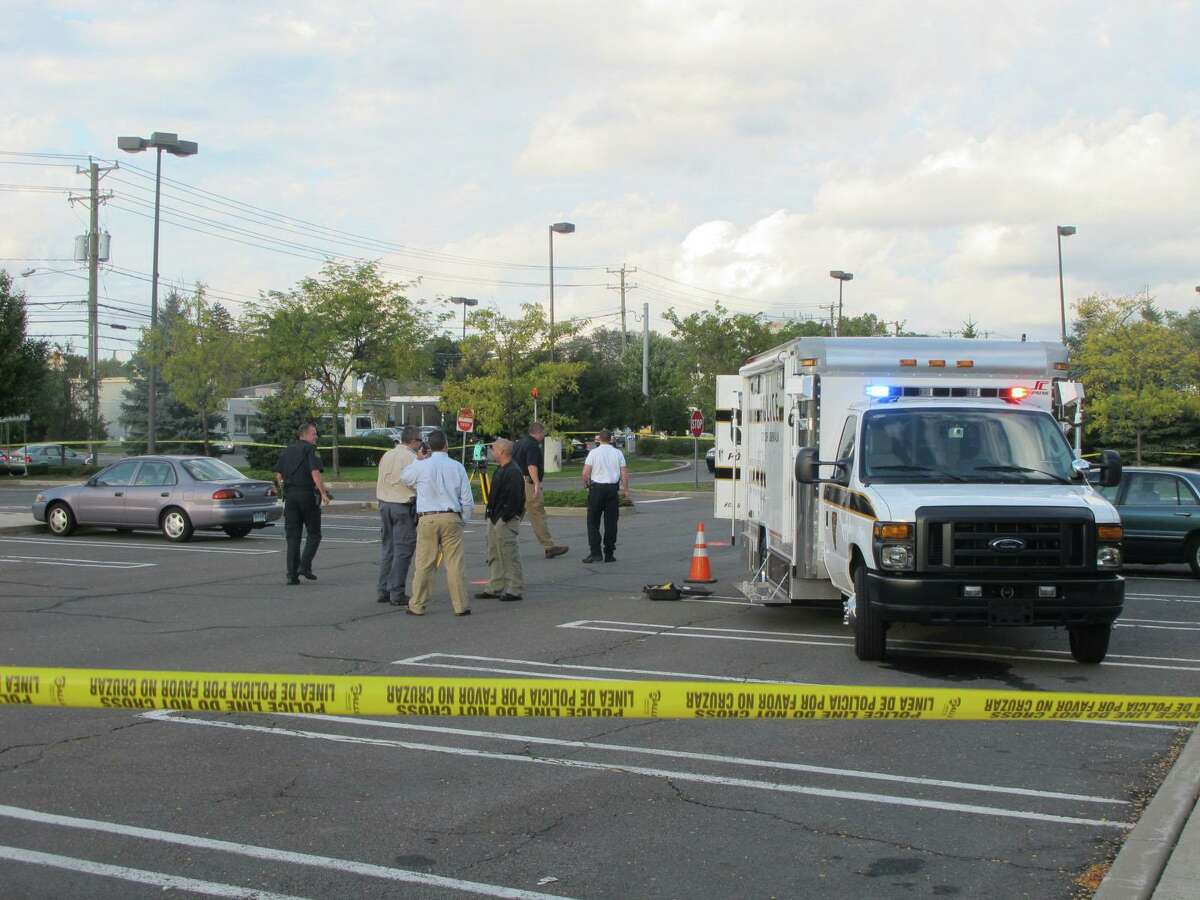Norwalk police investigate a shooting at Stop & Shop on Connecticut Avenue on Wednesday, Oct. 10, 2012.