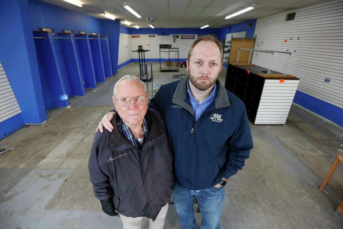 Kevin Doffing (right) and his 79-year-old father, Larry Doffing, ran a family-owned business for nearly 50 years, Sam's Safety Equipment, which has now shuttered.