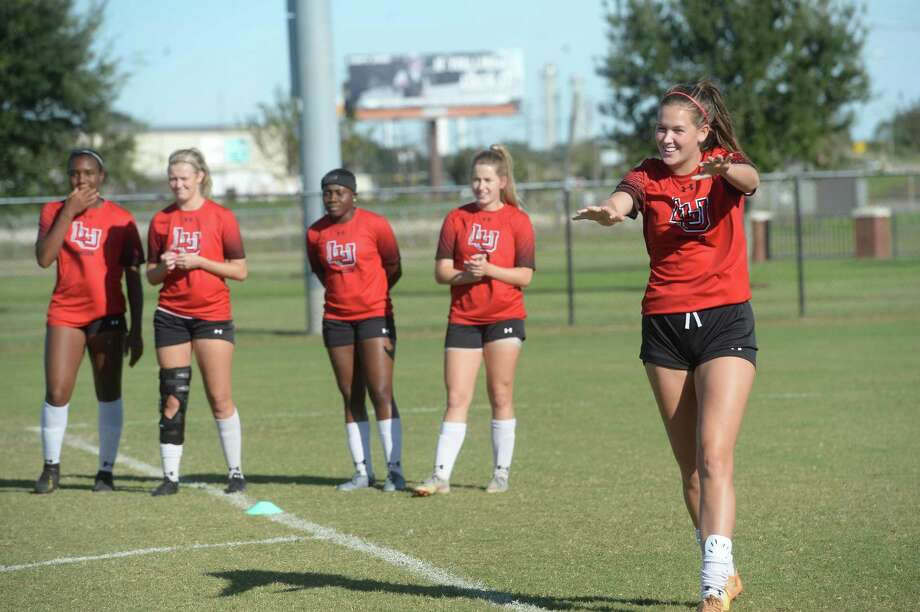 Lamar University's women's soccer team is back on top in the Southland Conference ranking. The Lady Cardinals are eyeing another shot at the conference championship and NCAA tournament bid. Photo taken Tuesday, October 22, 2019 Kim Brent/The Enterprise Photo: Kim Brent / Kim Brent/The Enterprise / BEN