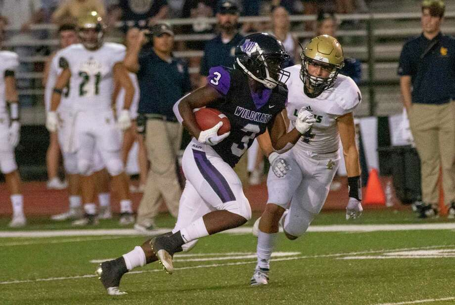 Willis wide receiver Josh King (3) was voted The Courier's Player of the Week after he caught eight passes for 152 yards and a touchdown in the Wildkats' 36-30 win over Waller on Friday. Photo: Cody Bahn, Houston Chronicle / Staff Photographer / © 2019 Houston Chronicle