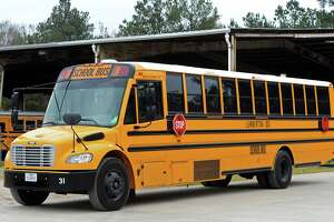 A Lumberton Independent School District bus sits outside the district's depot Wednesday afternoon.  Photo taken Wednesday 1/14/15 Jake Daniels/The Enterprise
