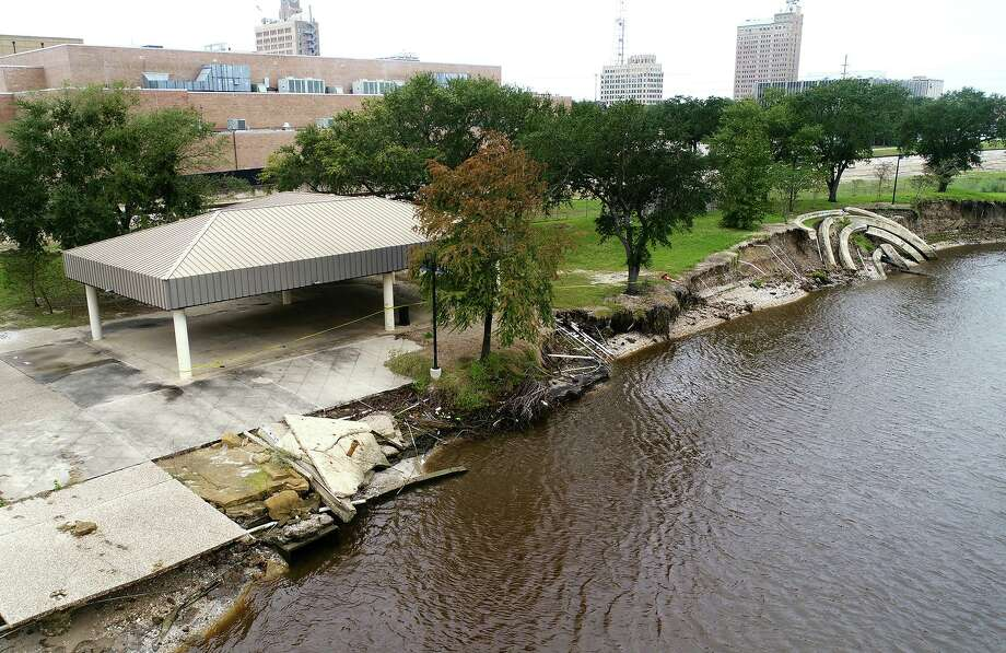 Beaumont Council voted Tuesday to begin the process of repairing Riverfront Park which received heavy damage from Tropical Storm Harvey last year.    Photo taken Tuesday, 11/13/18 Photo: Guiseppe Barranco/The Enterprise, Photo Editor / Guiseppe Barranco ©