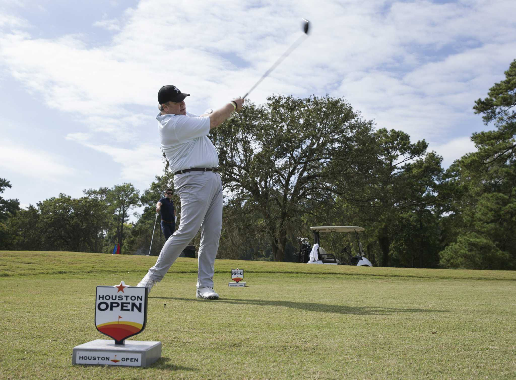 Jim Crane hits first shot at newly reopened Memorial Park golf course