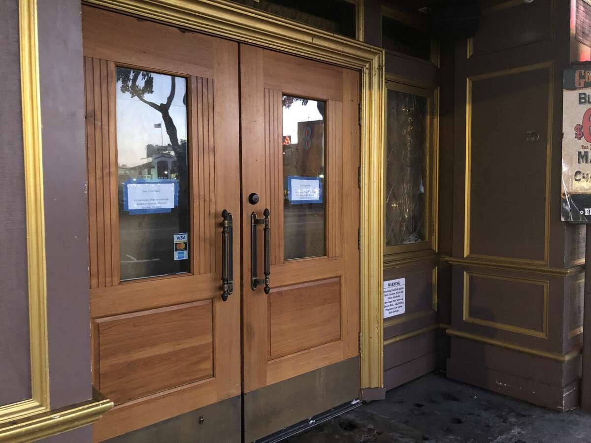 The Gold Dust Lounge in San Francisco's Fisherman's Wharf district posted a sudden closure sign on Oct. 28, 2019. It's unknown whether the popular spot for Irish coffee will re-open.