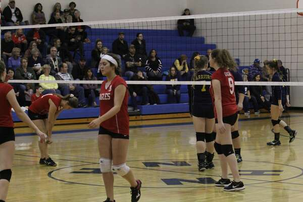The North Huron Warriors upended the Caseville Eagles in the districts opener in Kinde on Monday, Nov. 4, 2019.