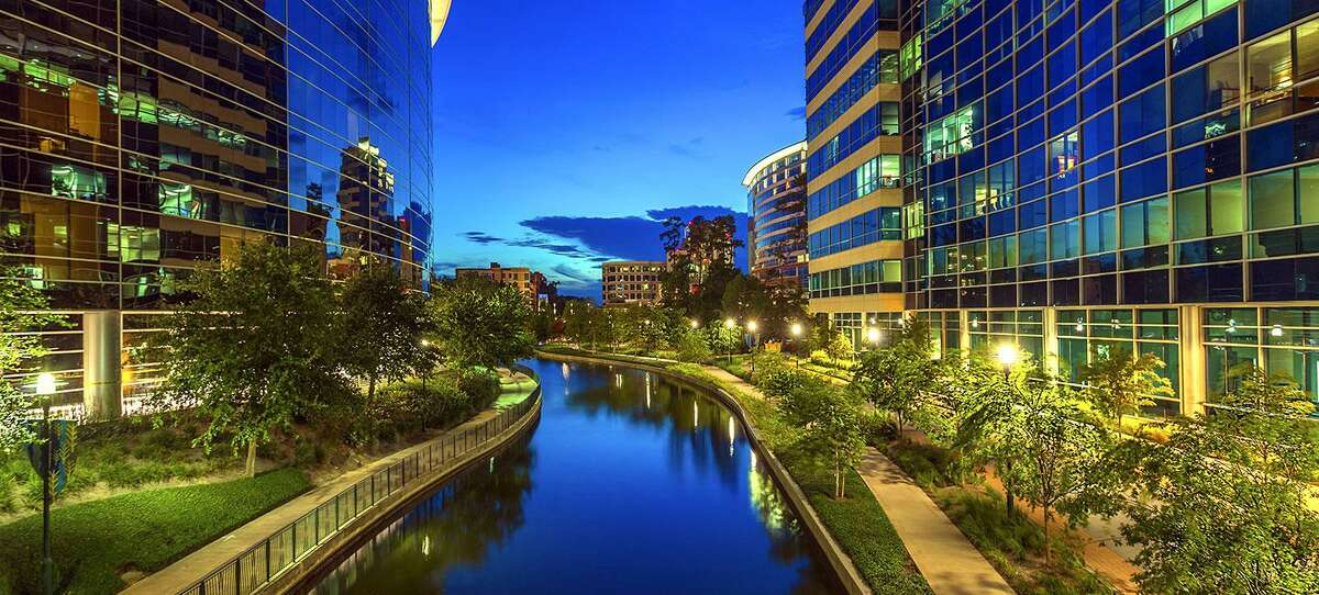 Houston civil egnineering firm LJA Engineering did the master planning work for The Woodlands. Located about 27 miles north of downtown Houston, the 25,000-acre master planned community mixes forestlandwith residential, commercial, mixed-use, office, and light industrial buildings.