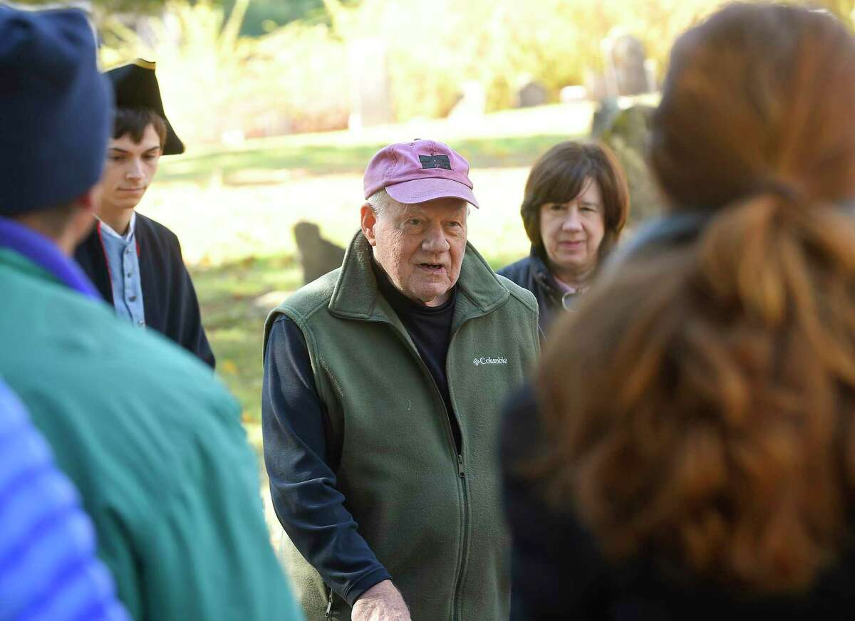 Meadow Ridge in Wilton historian, and author Bob Russell gives a brief introduction, and history of the town prior to the Spirits of the Past cemetery walk, and re-enactment at the Sharp Hill Cemetery in the town, during a previous year. This is an article about how Russell betters his community for generations to come.