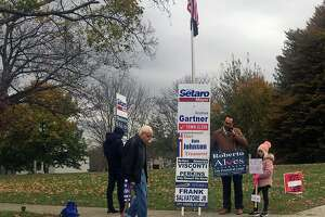 Voters have been turning out in higher numbers than normal at the Danbury War Memorial.