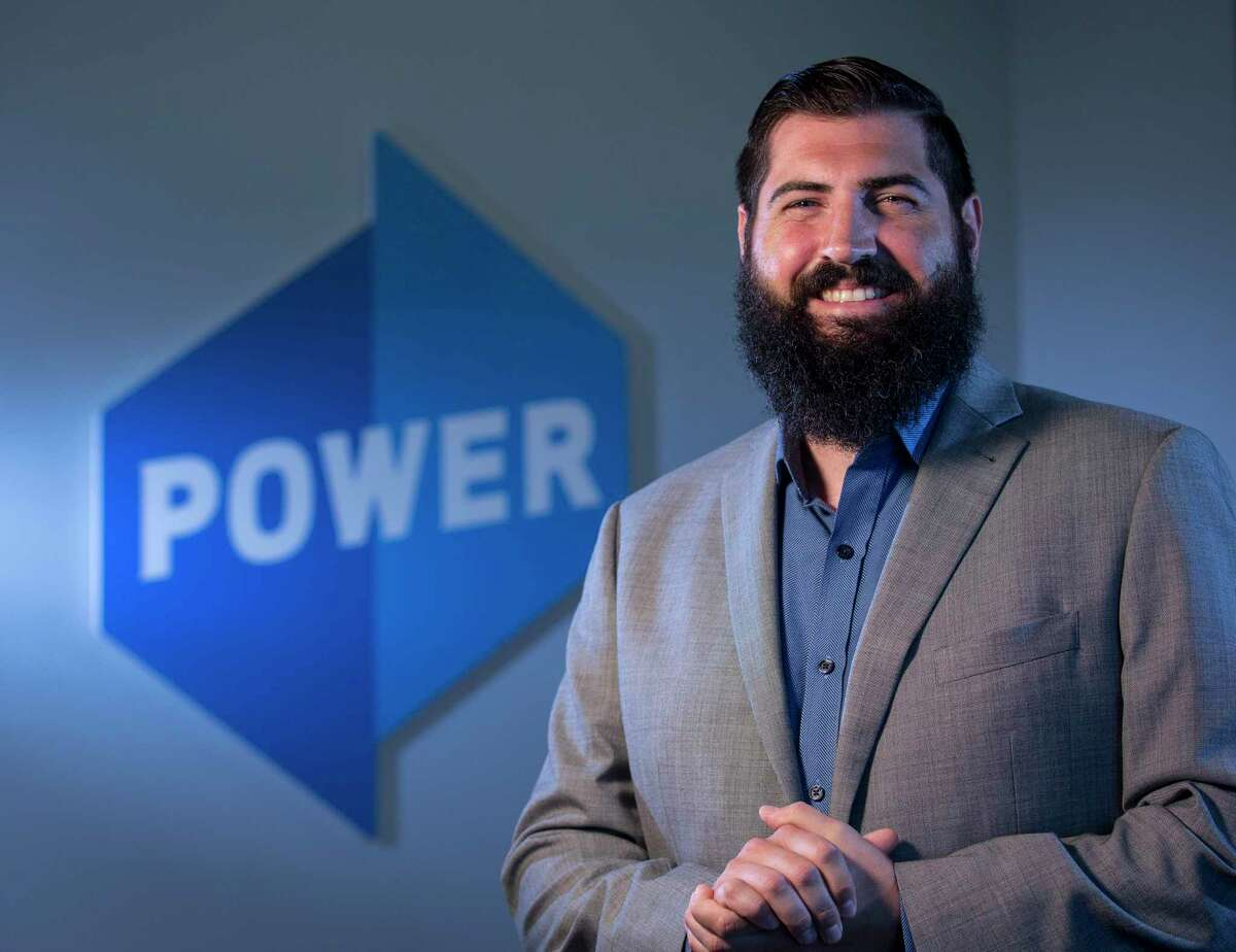 Joshua Shepard, regional vice president of Power Home Remodeling Group, poses for a portrait at the company's office on Tuesday, Sept. 24, 2019, in Houston.