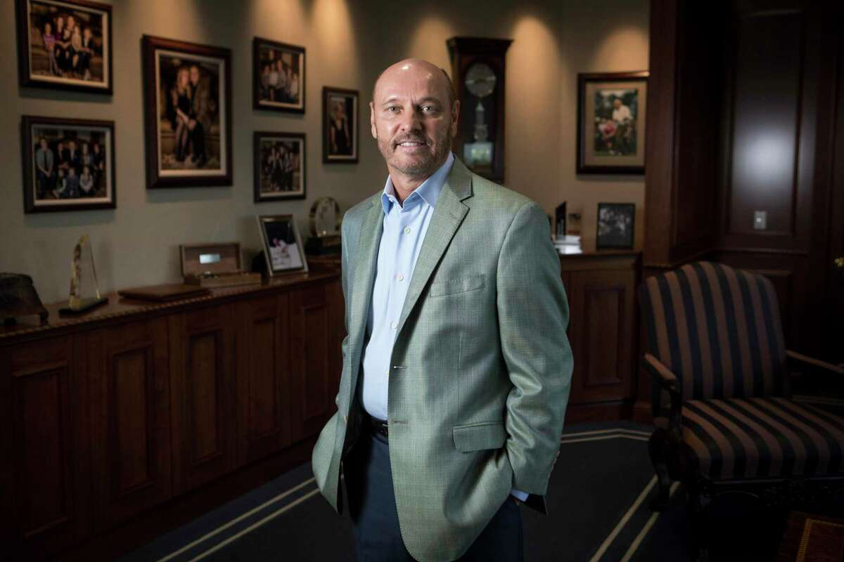 Paul Sarvadi, chairman and CEO of Insperity, poses for a portrait in the company's offices in Kingwood.