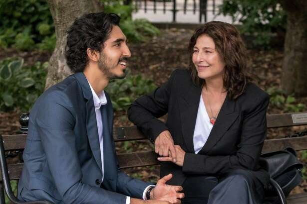 "Dev Patel and Catherine Keener in ""Modern Love."""