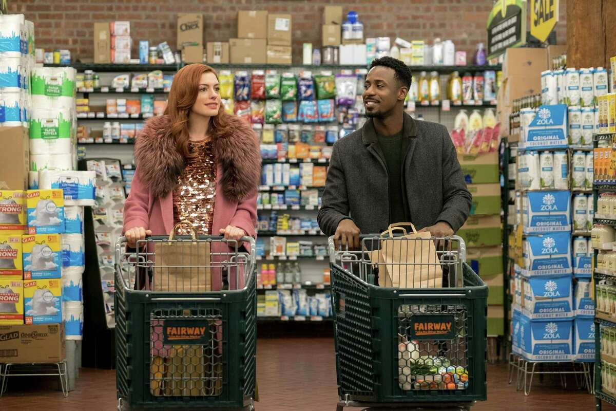 """Anne Hathaway and Gary Carr in """"Modern Love."""""""