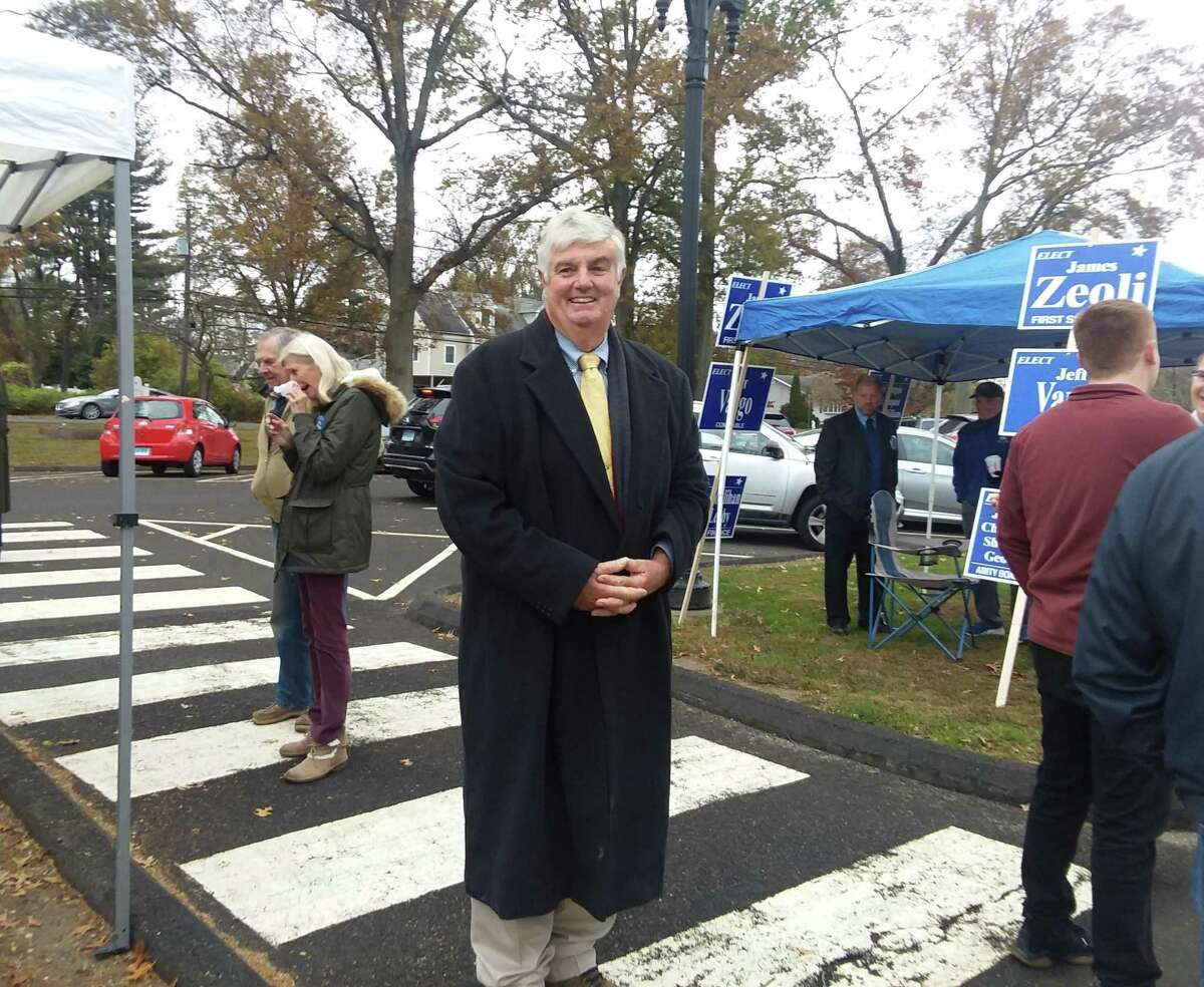 Orange incumbent First Selectman candidate James Zeoli at the polls at high Plains Community Center Tuesday, Nov. 5, 2019