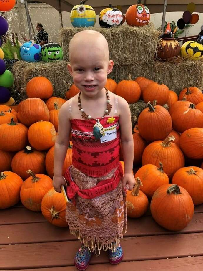 At age 3, Kinsley Curley of Katy was diagnosed with Wilms Tumor (kidney cancer).  She talks about childhood cancer and wants to share her story, says her mom, Erica, while being supportive of other children who also have been diagnosed. Photo: Courtesy National Pediatric Center Foundation / Courtesy National Pediatric Center Foundation
