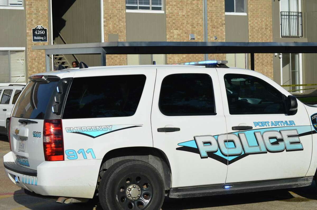 Port Arthur Police investigate the shooting death of man at Avery Trace Apartments on Friday.