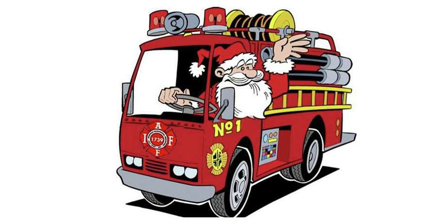 The Ridgefield Professional Firefighters IAFF Local 1739 will bring Santa to your home in a firetruck on Saturday, Dec. 7 or 14. Photo: Contributed Photo.