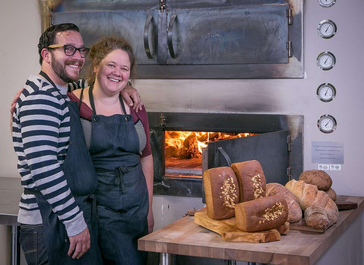 Joe Wolf and Amy Brown of Marla Bakery in San Francisco, Calif., are seen on Saturday, August 9th, 2014.