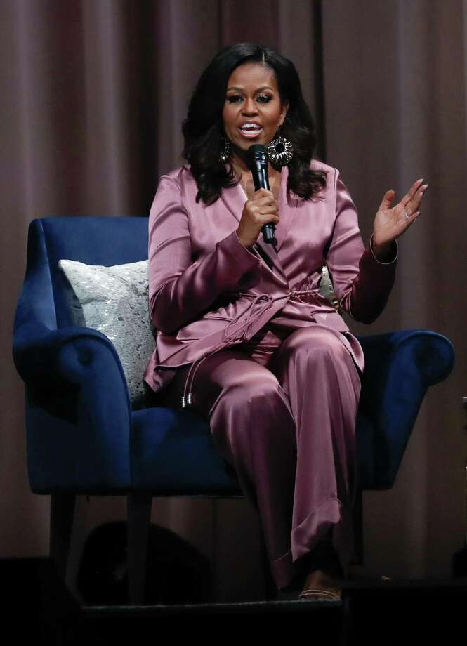 """Michelle Obama recently said """"if I show up every day as a human, a good human … maybe, just maybe, that work will pick away at the scabs of your discrimination."""" She has has nothing to prove. She's already done that. Photo: Jim Gensheimer / Special To The San Francisco Chronicle / online_yes"""
