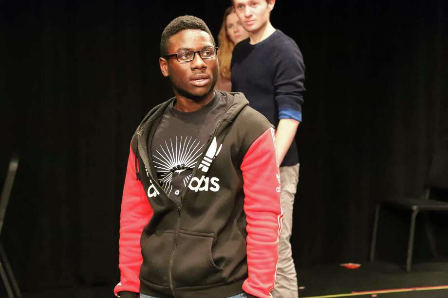 """Wesleyan University's Theater Department presents """"The Laramie Project"""" by ?Moisés Kaufman and the Tectonic Theater Project, Nov. 15-17. Pictured are cast members Fitzroy Wickham, Georgia Garrison and Max Johnson. Photo: Wesleyan CFA / Contributed Photo /"""