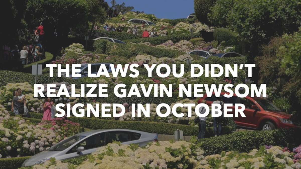 Click through the gallery to see new laws signed -and vetoed- by California Gov. Gavin Newsom.