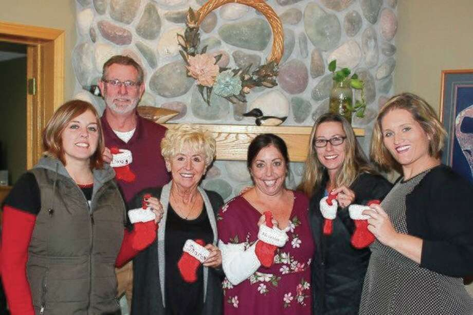 Coldwell Banker Schmidt Realtors agents gear up for their Soldiers' Angels campaign. (Pioneer News Network Photo/Robert Myers)