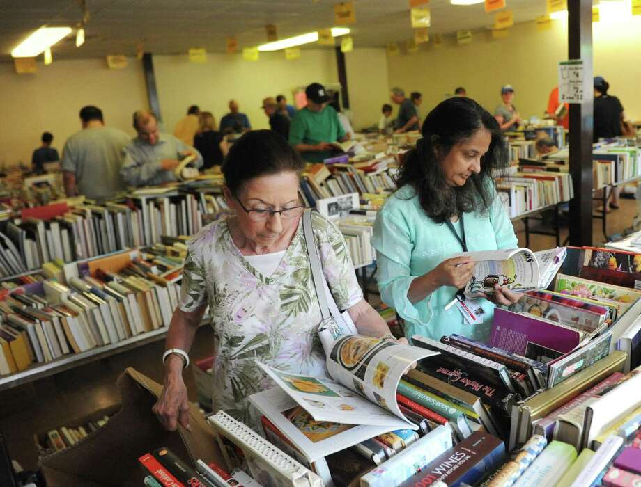 The Friends of the Byram Shubert Library will hold a Book & Media Sale, starting with the preview night from 5 to 8 p.m. Thursdayat St Paul's Lutheran Church, 55 William St. W. There is a $20 entry fee for an exclusive preview. The sale continues with free admission from 5 to 8 p.m. Friday, from 8 a.m. to 4 p.m. Saturday and from noon to 4 p.m. Sunday. The sale will feature over 40,000 books and media. Photo: File / Tyler Sizemore / Hearst Connecticut Media / Greenwich Time