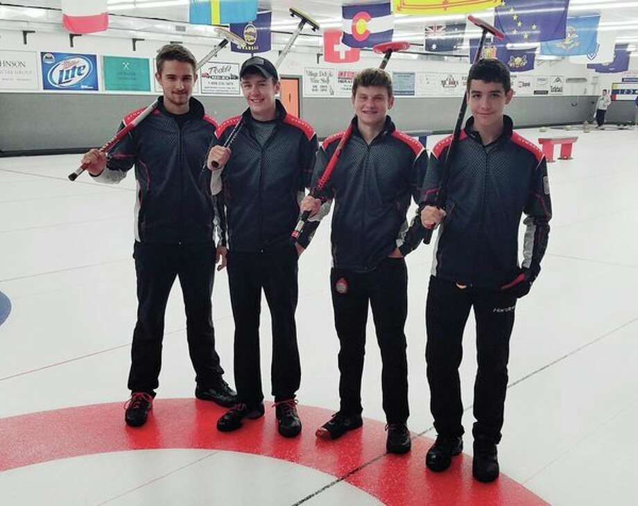 Team Thurston includes, from left, Coleman Thurston, skip; Jake Thurston, lead; Hans Nielsen, fifth (alternate); and Nick Soto, second. Not picturedis Connor Kauffman, vice.