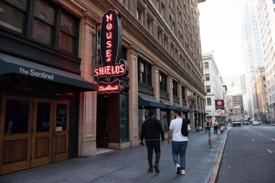 Open since 1908, House of Shields bartender Shanti DeLuca, shares some of the bar's unique history. Photo: Blair Heagerty / SFGate