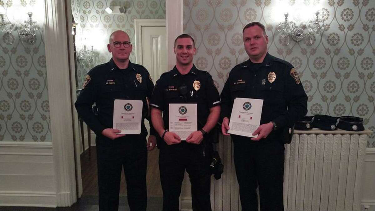 Lt. Jeff Smith, Ofc. Mike McKnight, and Ofc. Dan Gjodesen.