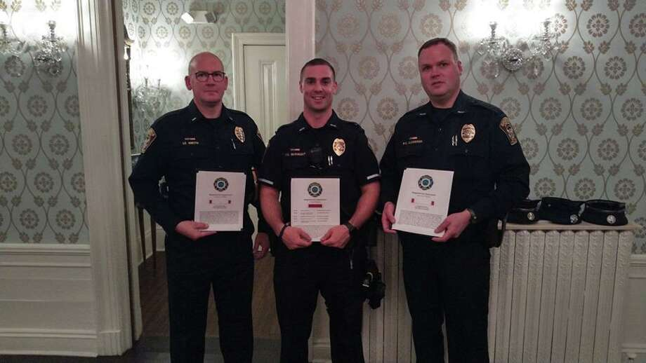 Lt. Jeff Smith, Ofc. Mike McKnight, and Ofc. Dan Gjodesen. Photo: Contributed Photo