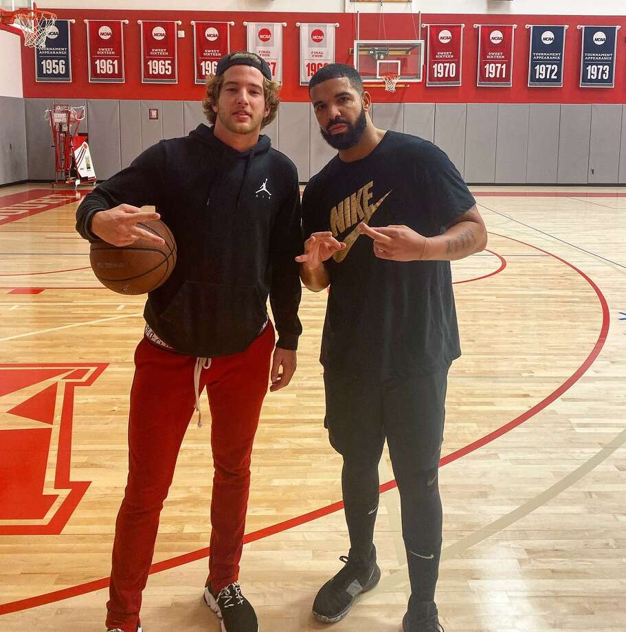 PHOTOS: Drake in Houston over the years Drake with University of Houston basketball player Landon Goesling at the Guy V. Lewis Development Center on Monday, Nov. 5, 2019. Browse through the photos above for a look at Drake at different events in Houston over the years ... Photo: Landon Goesling