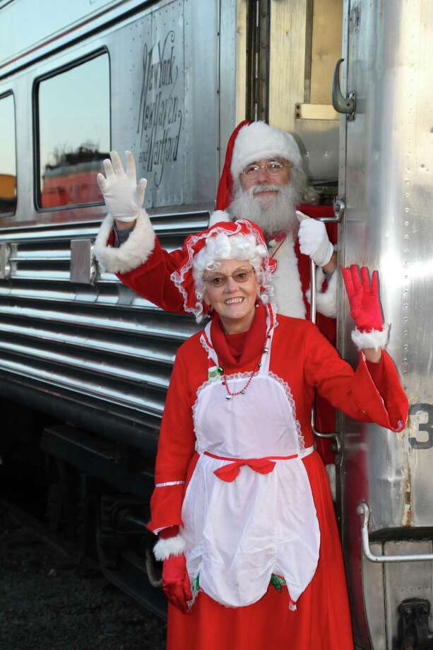 Santa and Mrs. Claus will once again pay a visit to the Danbury Railway Museum December 7-8, 14-15 and 21-22. Photo: Danbury Railway Museum / Contributed Post