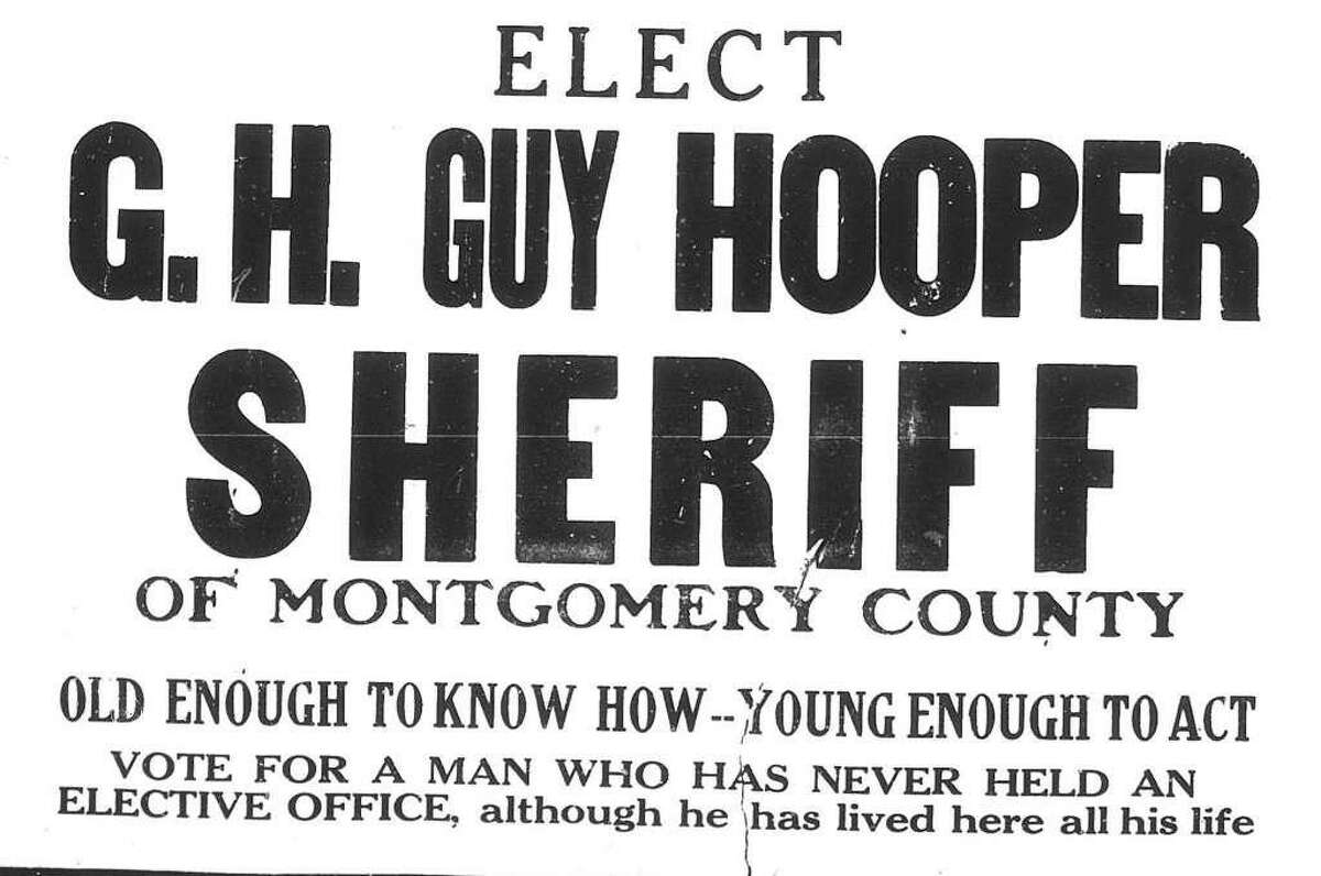 An advertisement for Sheriff's Guy H. Hooper's election to sheriff in 1932.