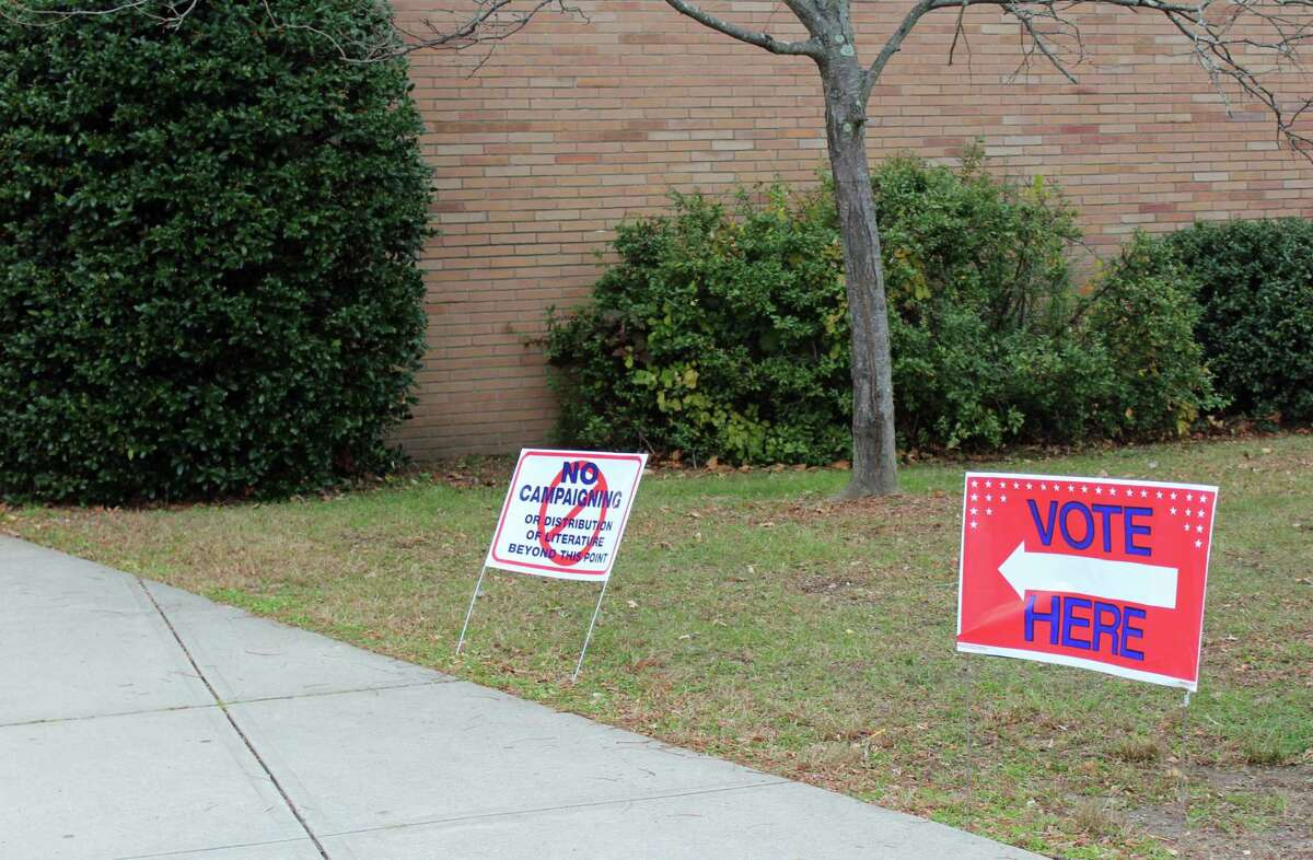 The District 1 polling station at Dwight Elementary School.