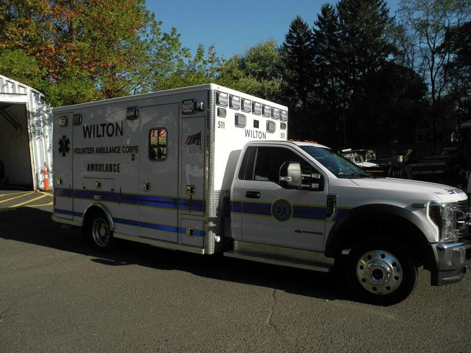 The new ambulance purchased by the Wilton Volunteer Ambulance Corps in October 2019. Photo: Jeannette Ross / Hearst Connecticut Media / Wilton Bulletin