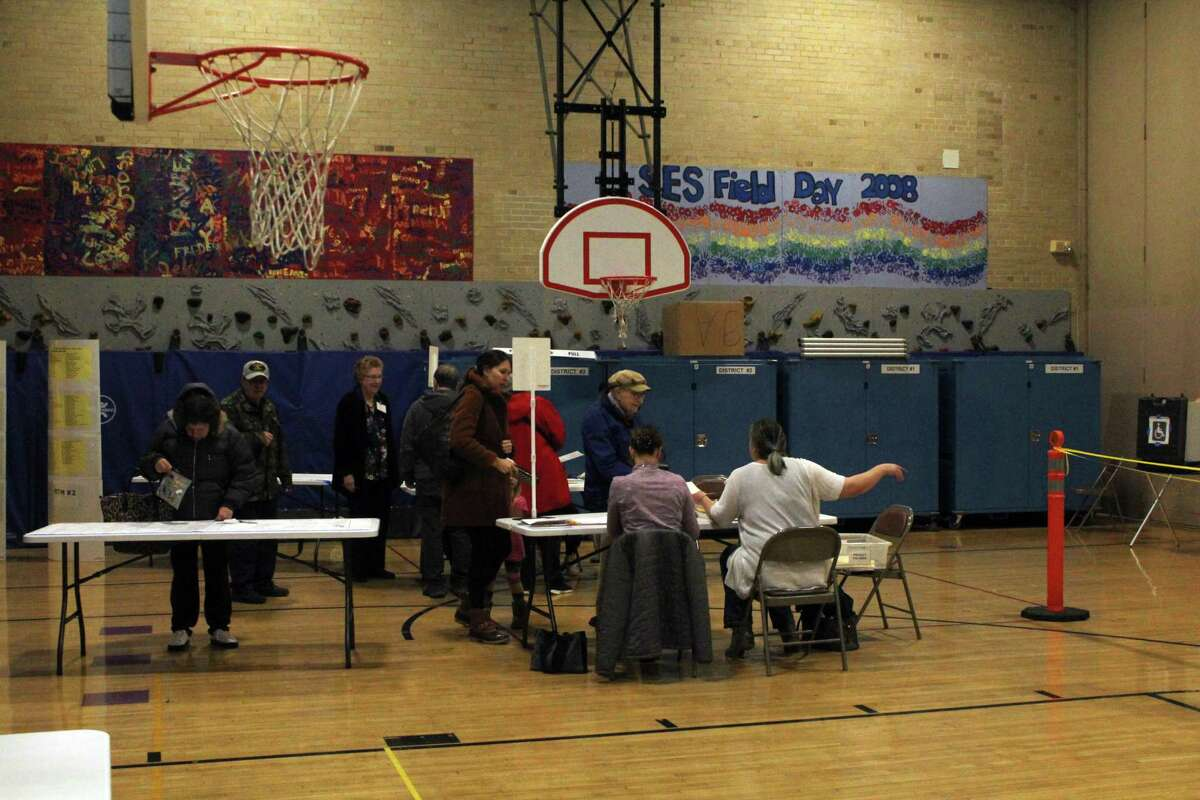 Residents showed up to Saugatuck Elementary School's gym to cast their votes on Nov. 5, 2019 in Westport.