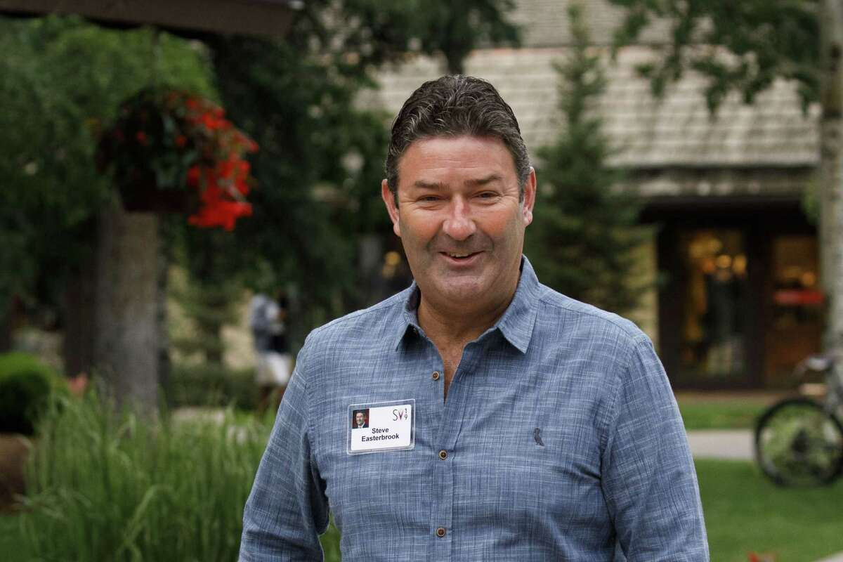 FILE: Steve Easterbrook, chief executive officer of McDonald's Corp., arrives for the morning session of the Allen & Co. Media and Technology Conference in Sun Valley, Idaho, U.S., on Wednesday, July 10, 2019. McDonalda€™s Corp. fired Easterbrook because he had a consensual relationship with an employee, losing the strategist who revived sales with all-day breakfast and led the companya€™s charge into delivery and online ordering. Photographer: Patrick T. Fallon/Bloomberg