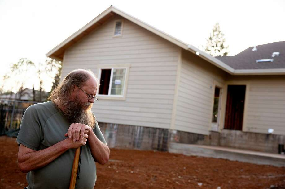 Jerry Wilson at his property along Kibler Road on Tuesday, Oct. 22, 2019, in Paradise, Calif. Jerry and his wife Patty Wilson lost their home in the 2018 Camp Fire. They live in a mobile home as they continue to rebuild their home. Photo: Santiago Mejia / The Chronicle