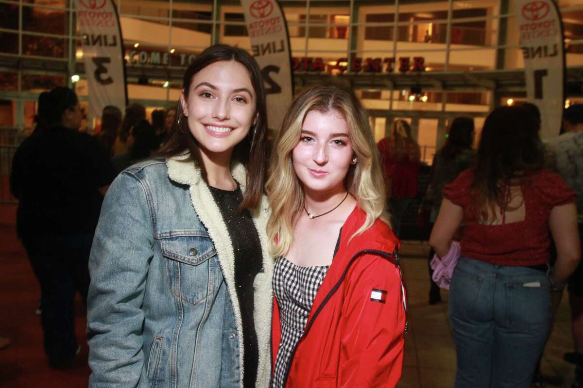 Fans at the Post Malone concert at Toyota Center on November 5, 2019.
