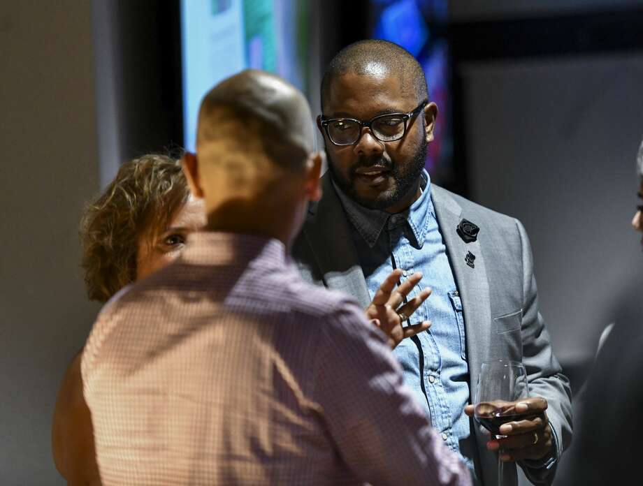 Orlando Riddick during election night party for the MISD bond Tuesday, Nov. 5, 2019 at Ally Outdoors. Photo: Jacy Lewis/Reporter-Telegram