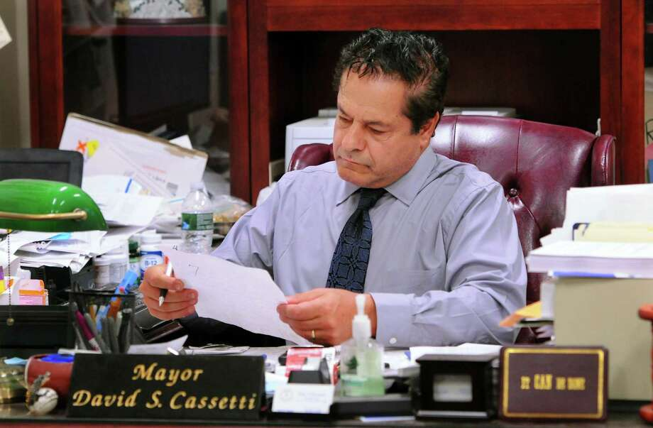 File photo of Mayor David Cassetti in his office at Ansonia City Hall in Ansonia, Conn. Photo: Christian Abraham / Hearst Connecticut Media / Connecticut Post