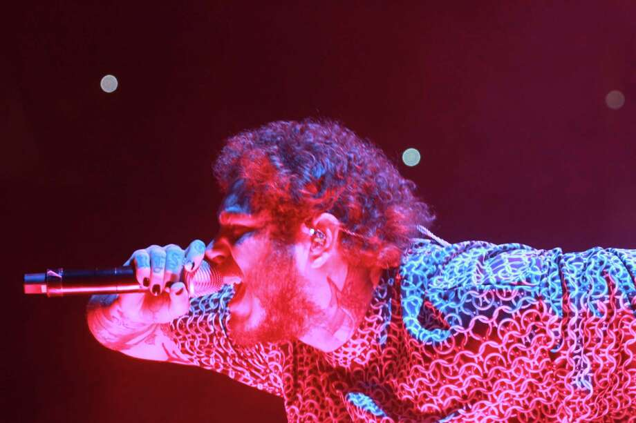 Post Malone in concert at Toyota Center on November 5, 2019. Photo: Gary Fountain, Contributor / Copyright 2019 Gary Fountain