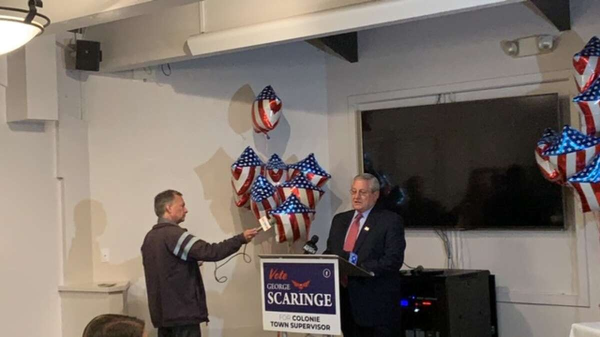 George Scaringe, Republican candidate for Colonie supervisor trails Paula Mahan by just a few votes. (Amanda Fries / Times Union)