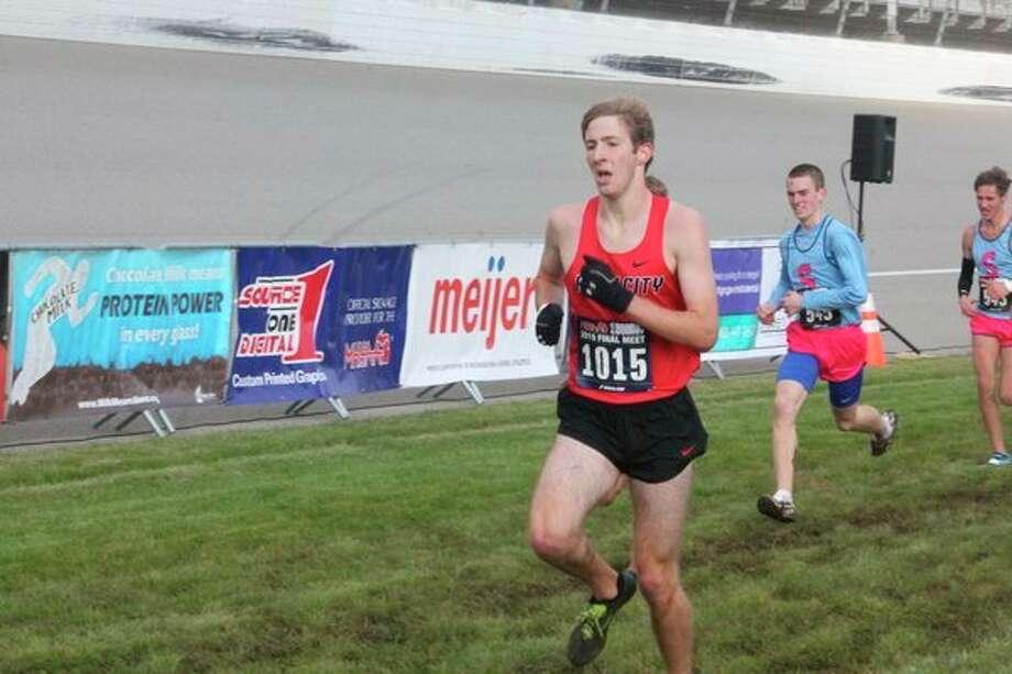 Calvin Rohdewas 25th in 16:45.5 at the state meet. (Herald Review photo/John Raffel