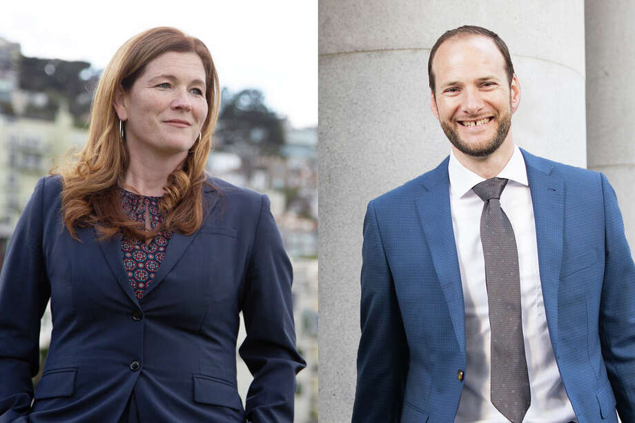 Suzy Loftus (left) and Chesa Boudin are in a close race for the San Francisco District Attorney office. Photo: Suzy Loftus, Chesa Boudin