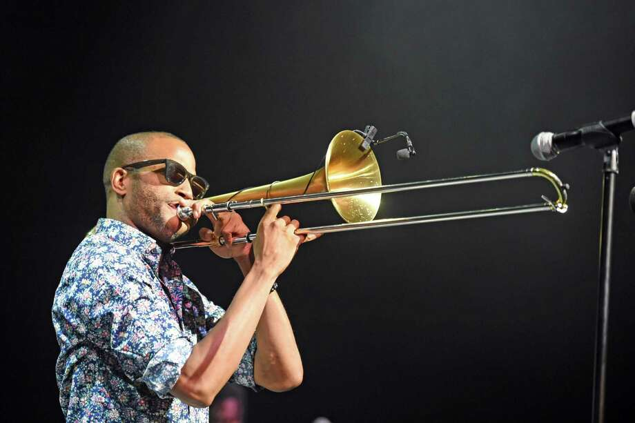 Voices: A Show of Unity, featuring Trombone Shorty & Orleans Avenue and hosted by longtime late-night TV talk show musical director Paul Shaffer, will be at Bridgeport's Klein Memorial Auditorium November 9. Photo: Stephen J. Cohen / Getty Images / 2019 Stephen J. Cohen